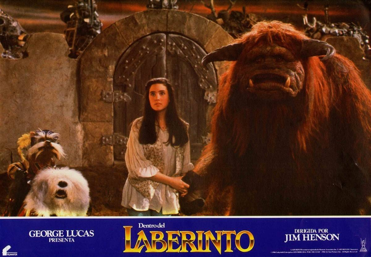 Sarah is seen with Ludo in Labyrinth.