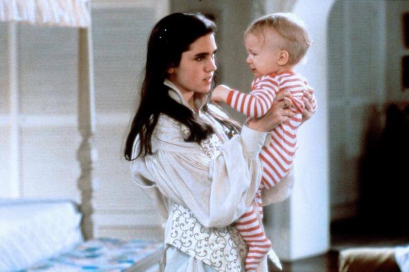 Jennifer Connelly holds baby Toby.