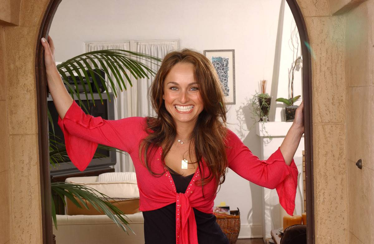 Giada De Laurentiis at Home - April 25, 2005