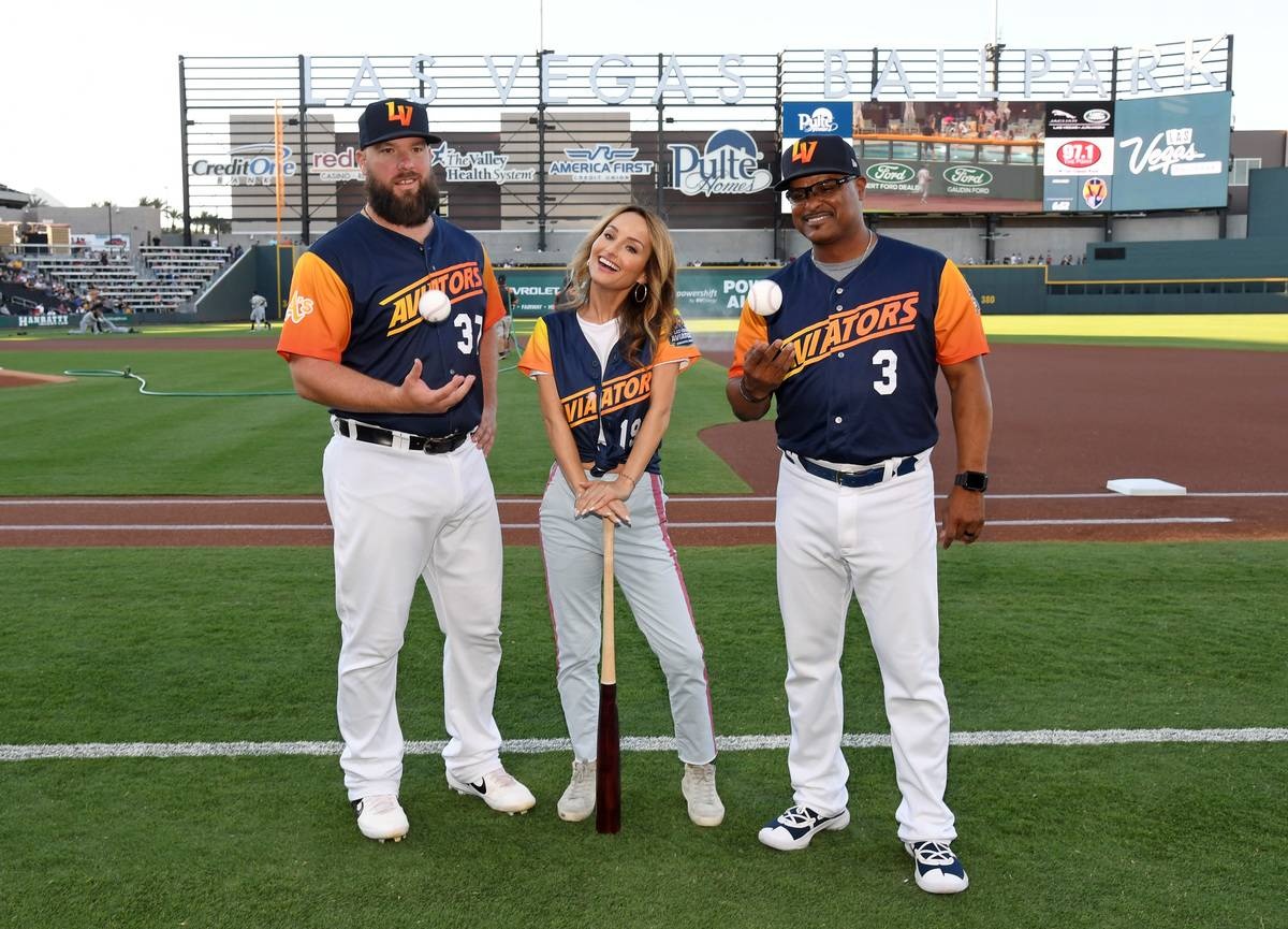 Giada De Laurentiis Makes Celebrity Show Kitchen Chef Appearance At Las Vegas Ballpark