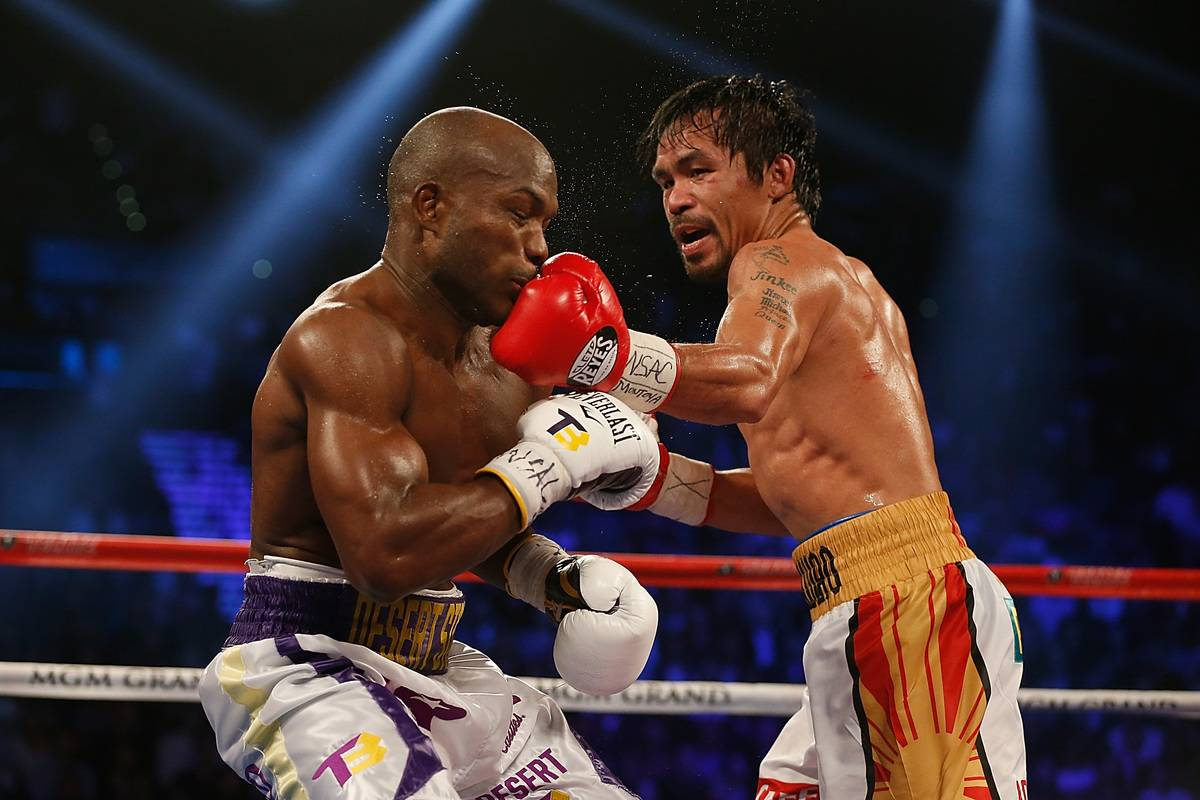 Manny Pacquiao Getting a clean hit