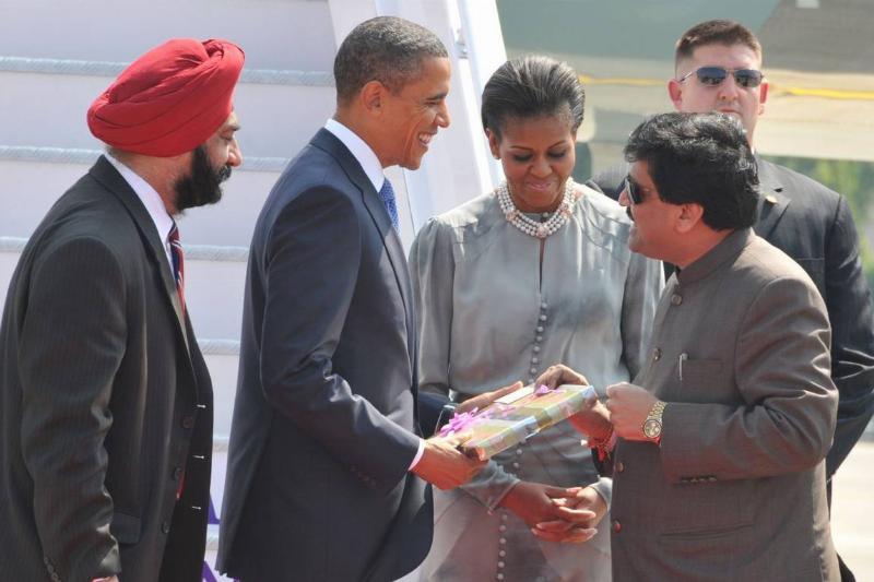 President Barack Obama Arrives In India