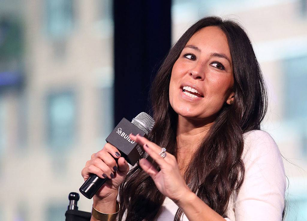 Designer Joanna Gaines appears on a talk show