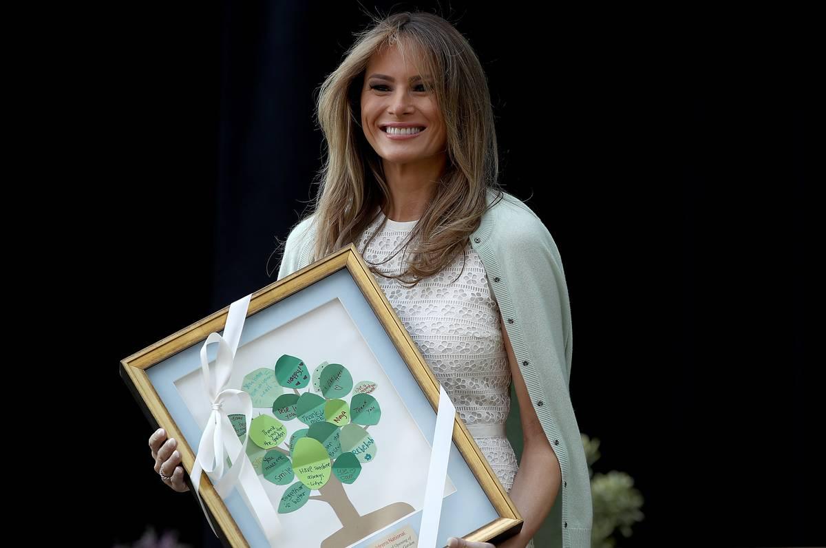 Melania Trump Visits Children's National Medical Center