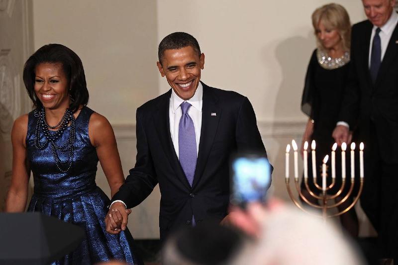 President Obama Speaks At Hanukkah Reception