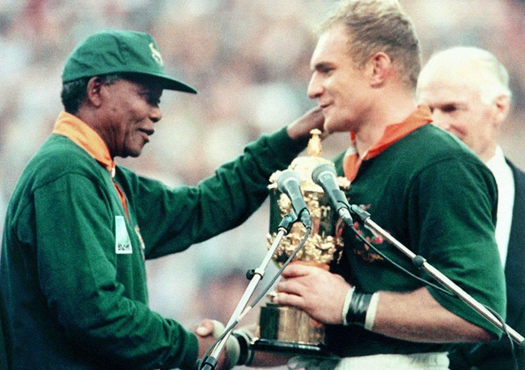 Picture of Mandela and Pienaar