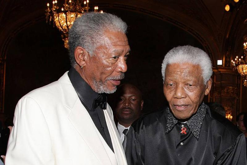 Picture of Freeman and Mandela