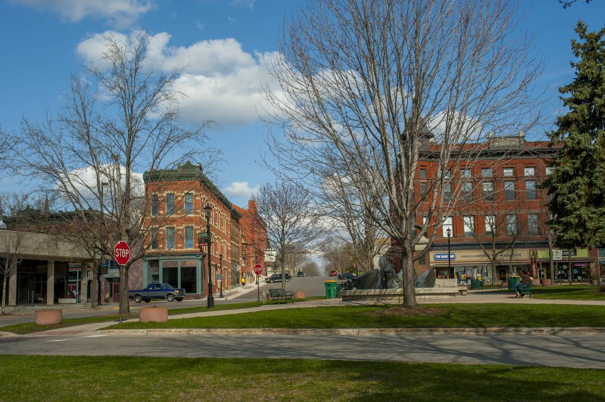 The city square in the city of Northfield in Minnesota, USA.