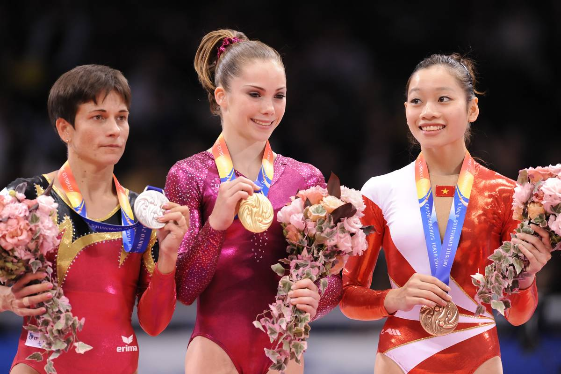 Gold medalist McKayla Maroney of the US
