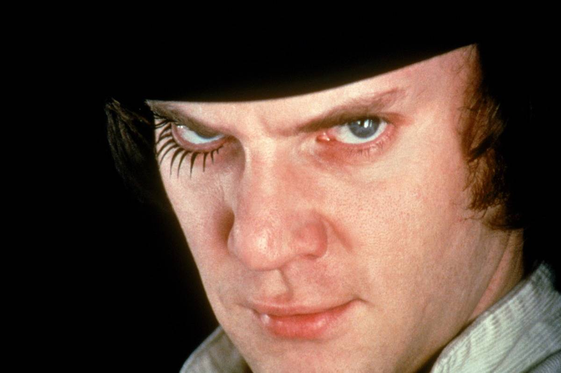 Malcolm McDowell in A Clockwork Orange