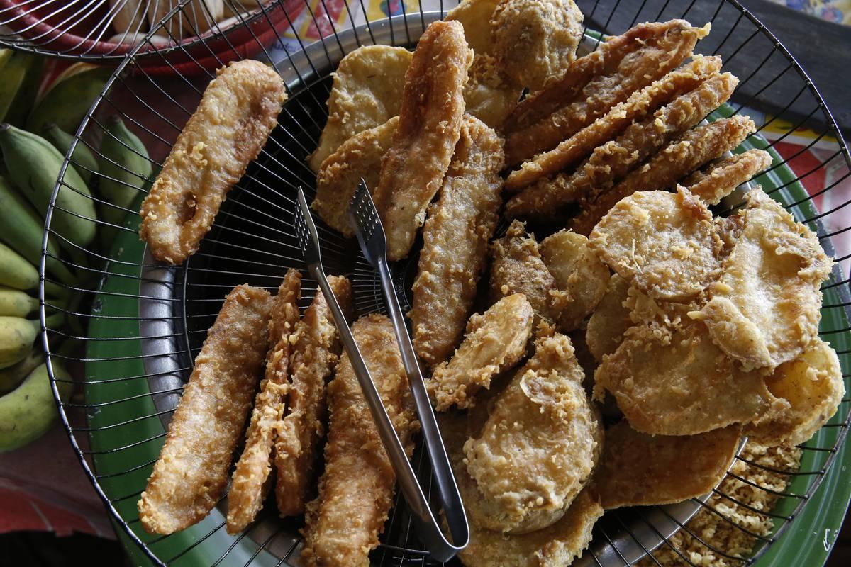 Banana fritters. Battambang. Cambodia.