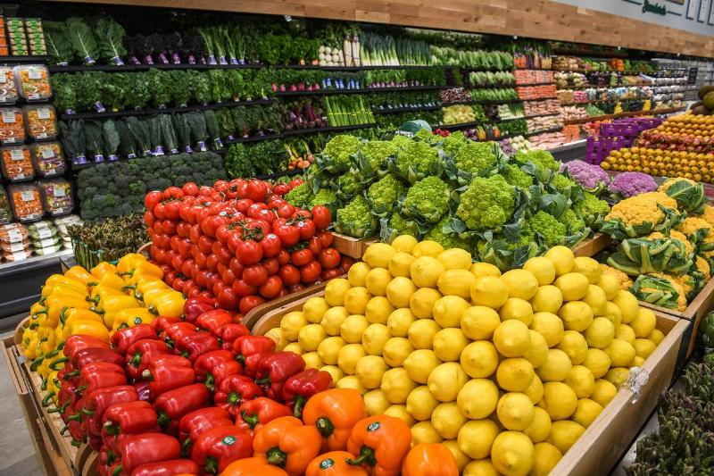 Produce section at Whole Foods store on Long Island