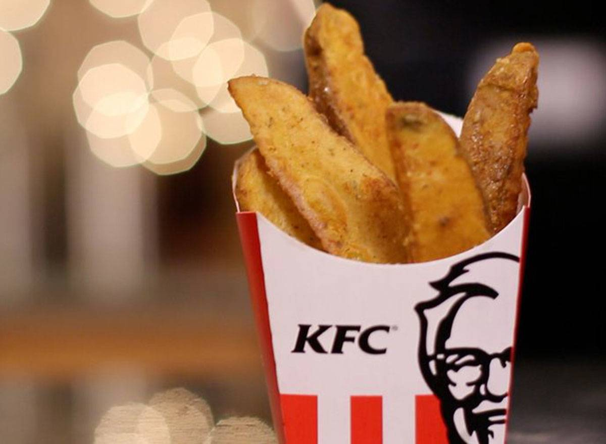 potato wedges in a carton from kfc